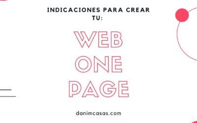 Qué son las Web One Page y cómo crear una.