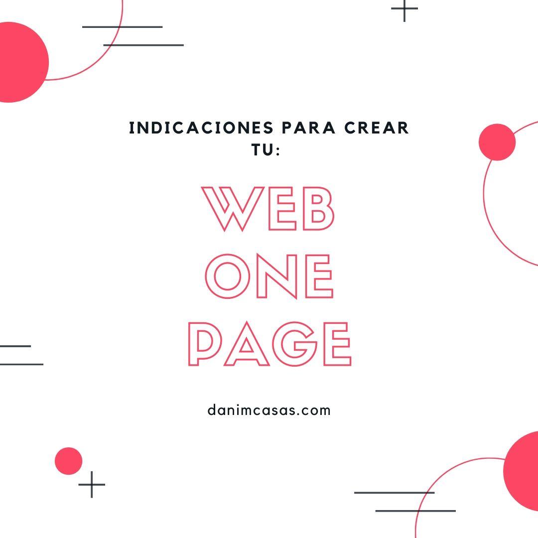 que es una web one page y cómo crearla