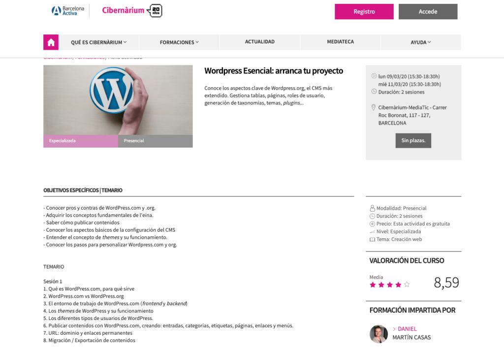 crea tu proyecto en wordpress Barcelona
